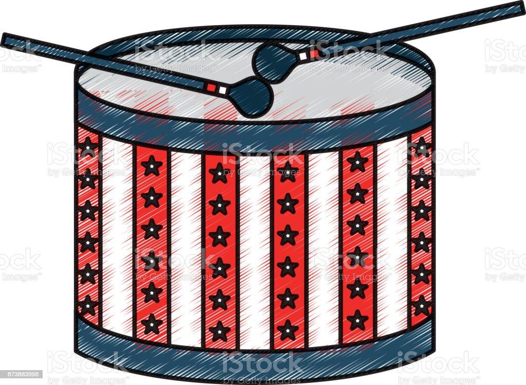 tambour américain icône isolé tambour américain icône isolé – cliparts vectoriels et plus d'images de art libre de droits