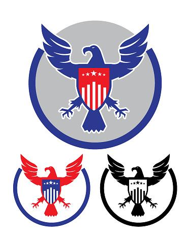 American Eagle and Shield Emblem set
