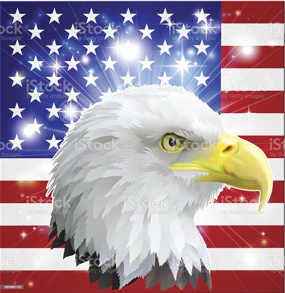 American eagle flag vector art illustration