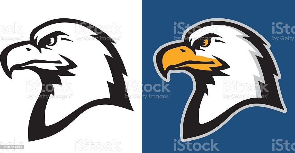 American eagle head profile.