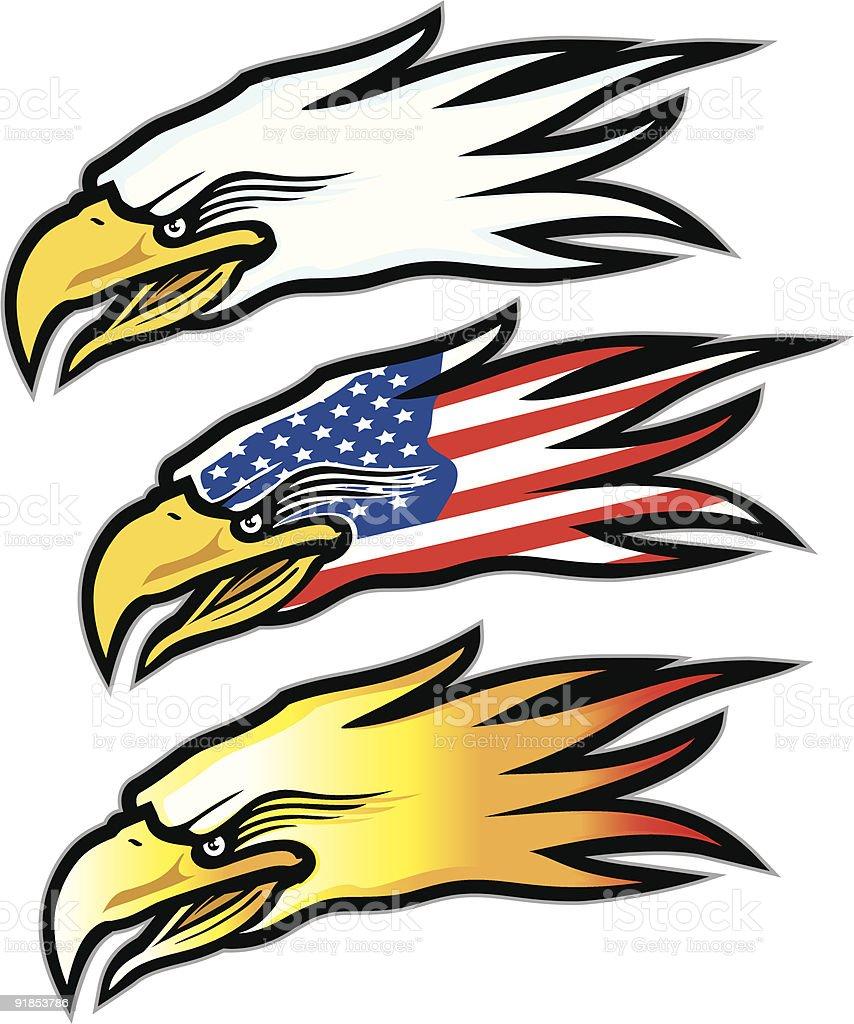 American Eagle mascot vector art illustration
