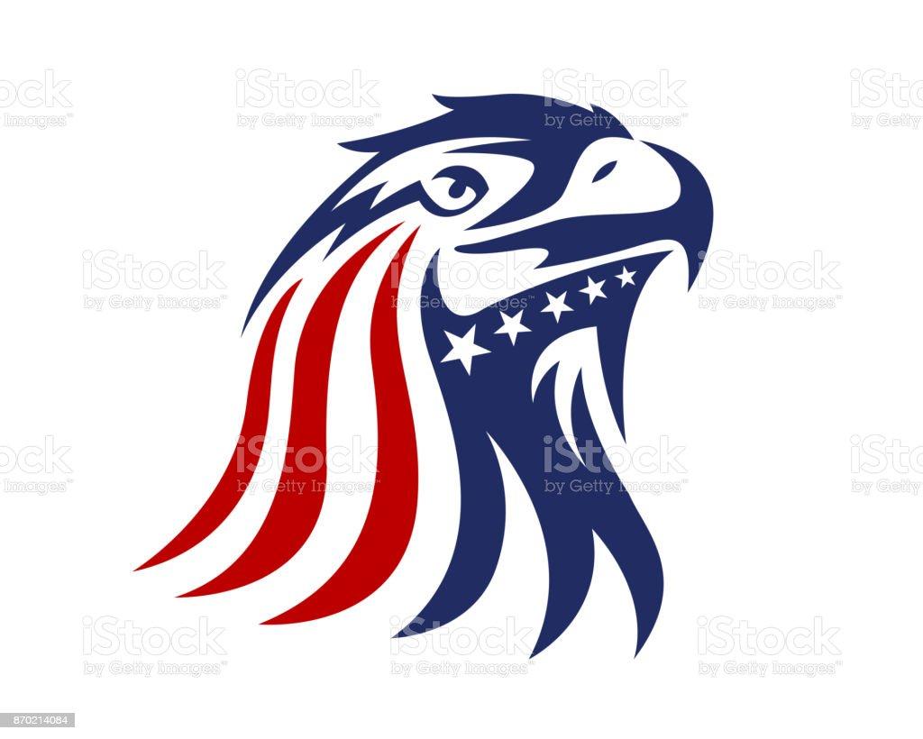 American Eagle Illustration patriotique - Illustration vectorielle