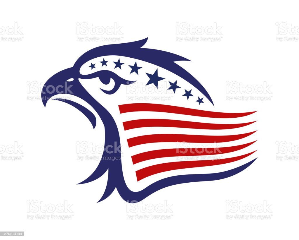 American Eagle Patriotic Illustration vector art illustration