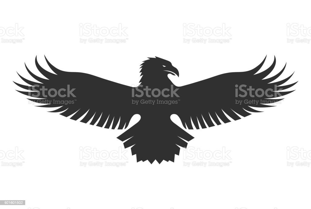 American Eagle Silhouette Stock Vector Art More Images Of Abstract