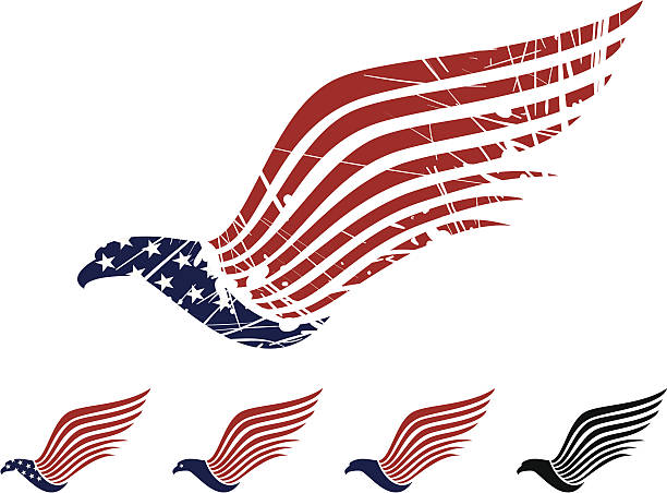 Royalty Free Red White Blue Eagle Clip Art Vector Images