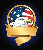 American Eagle US Flag Banner Background