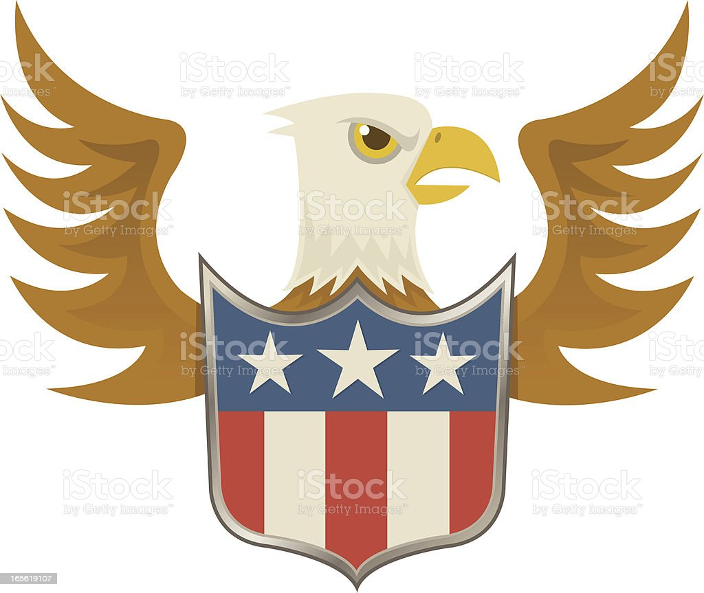 American Eagle vector art illustration