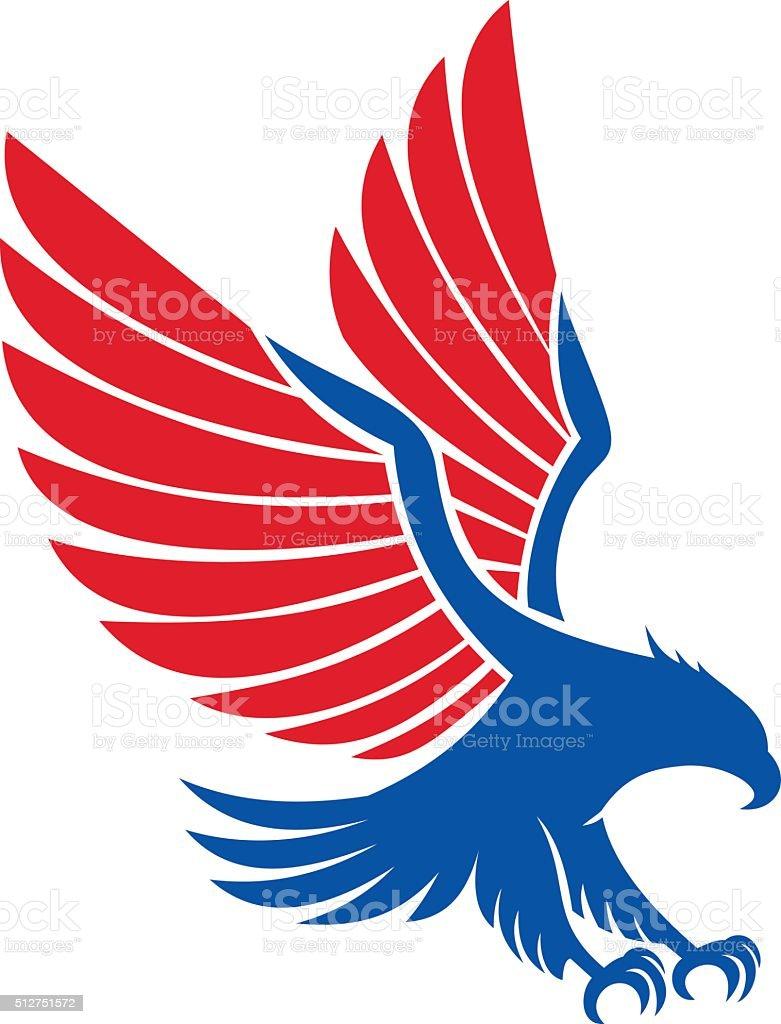 American eagle vector art illustration