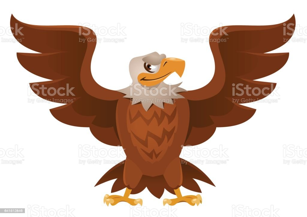 American Eagle With Open Spread Wings Stock Vector Art & More Images ...