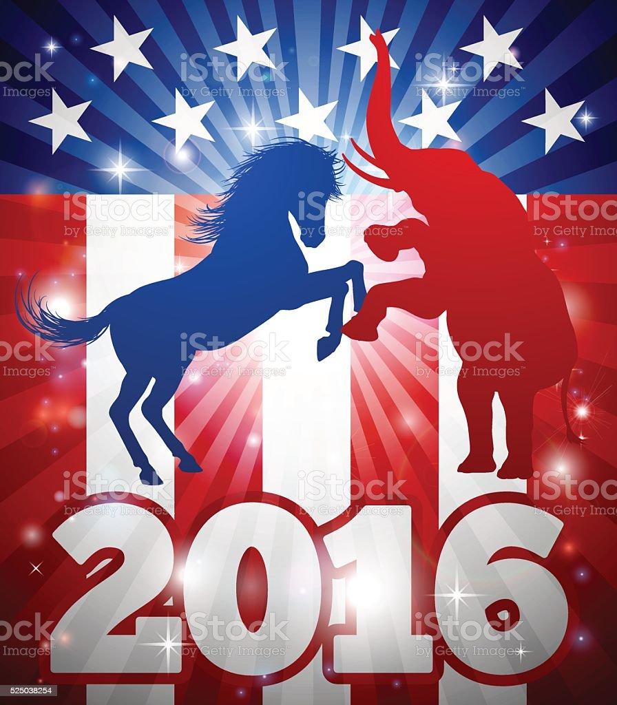 American Election 2016 Concept vector art illustration