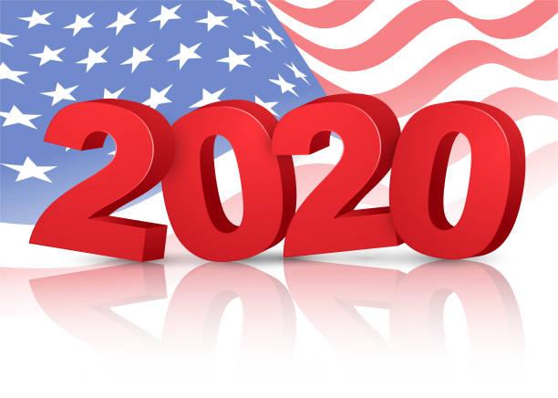 미국 선거 - 2020 투표 벡터 아트 일러스트