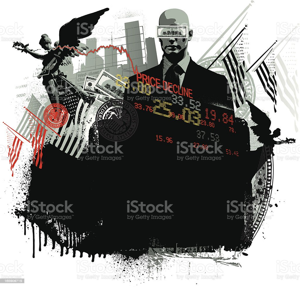 American financial background royalty-free stock vector art
