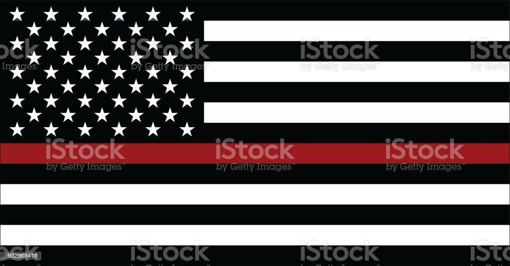 Bandeira americana bombeiro - ilustração de arte em vetor