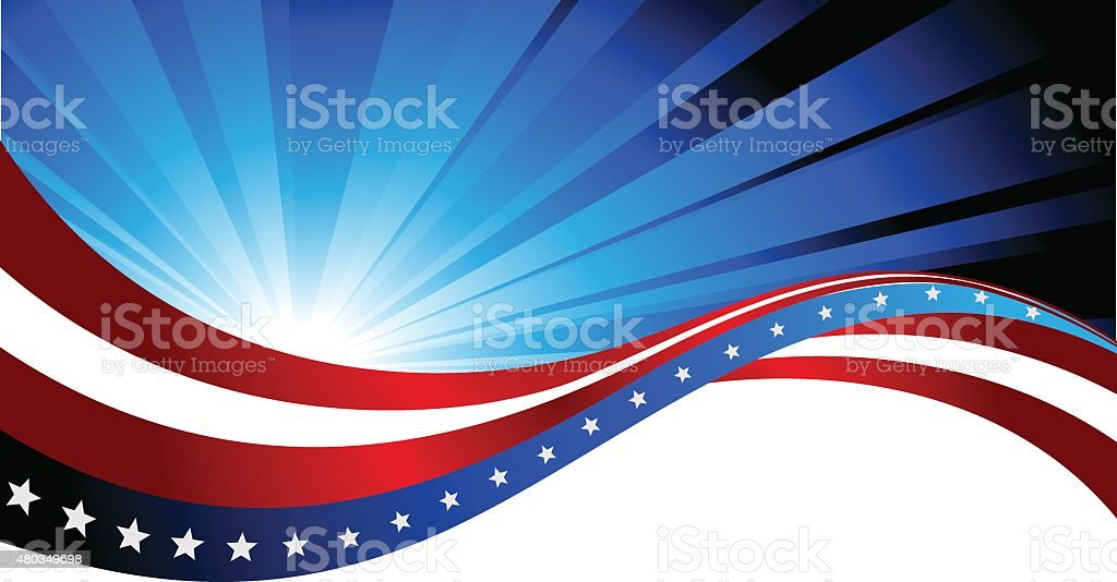 American flag, abstract background of the vector art illustration