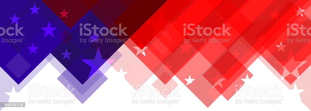 american flag abstract design