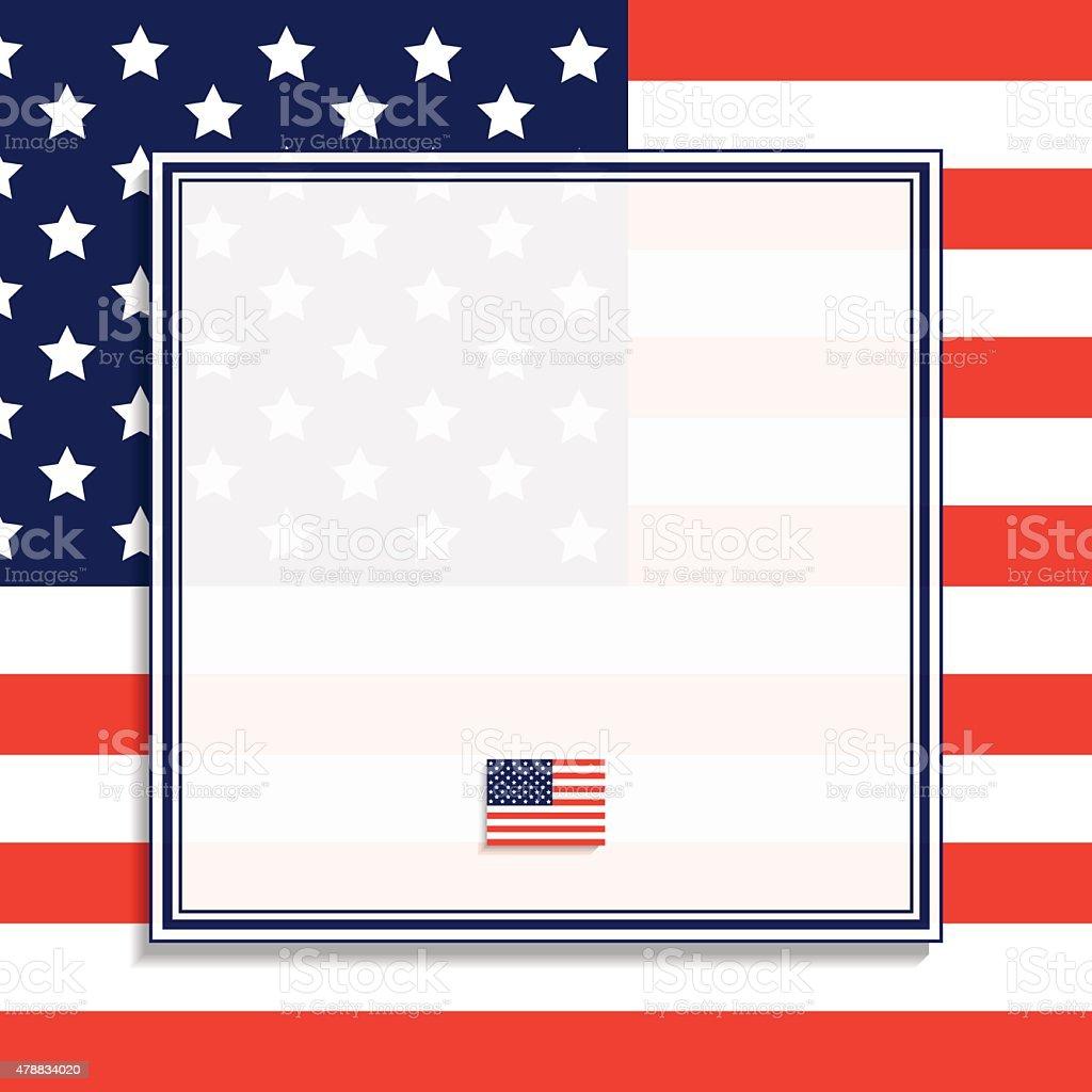 Amerikanische Flagge Und Rahmen Vektor Vektor Illustration 478834020 ...