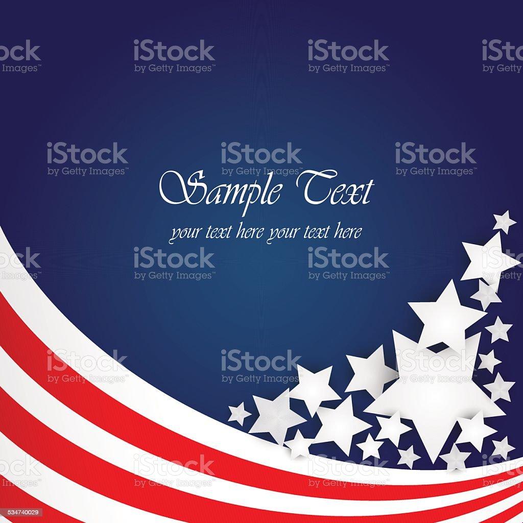 american flag background vector art illustration