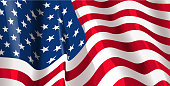 drawn of vector American flag background.This file has been used illustrator cs3 EPS10 version feature of multiply.