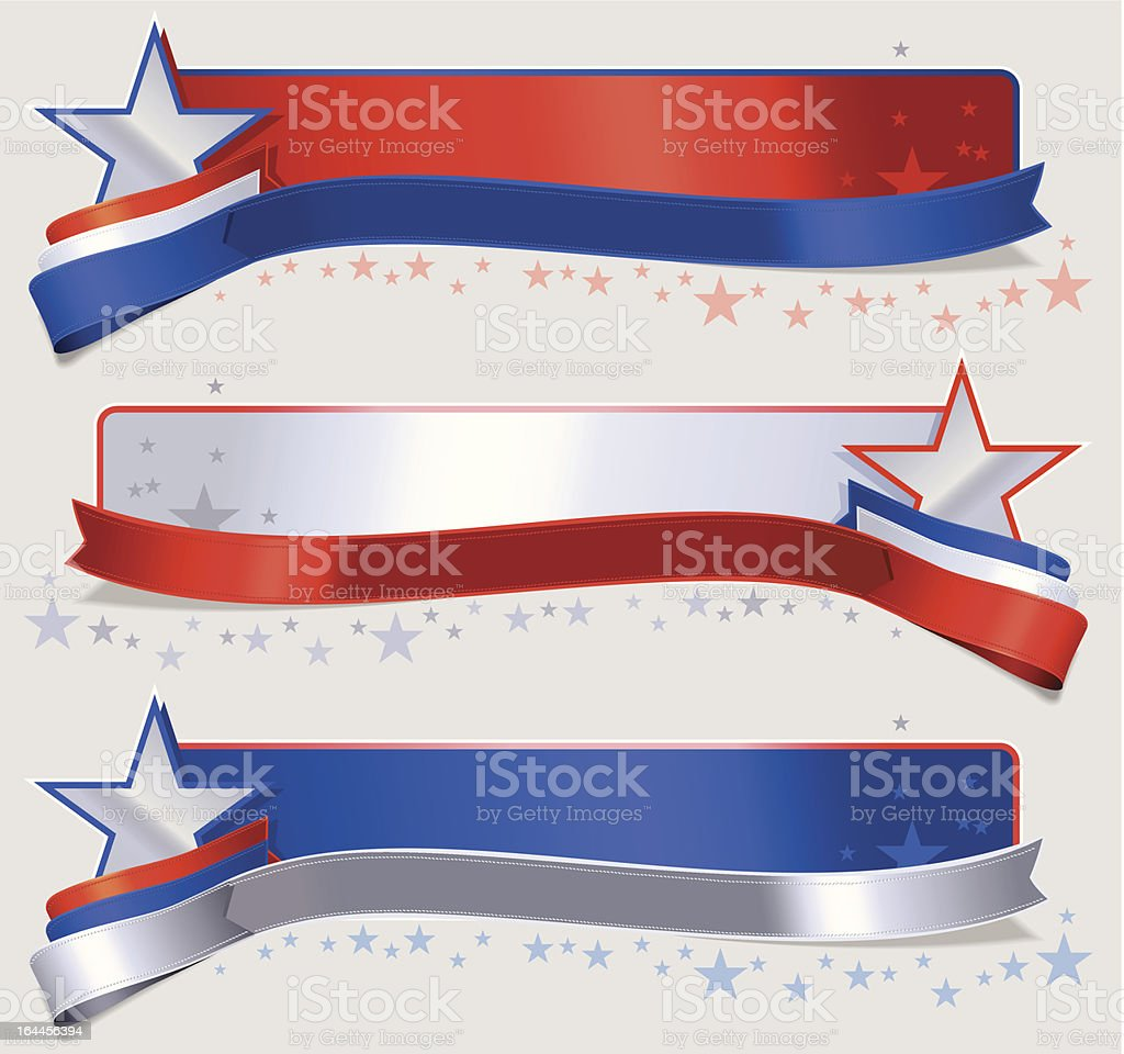 American flag banner vector art illustration