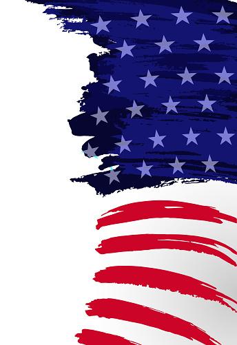 american flag brush strokes