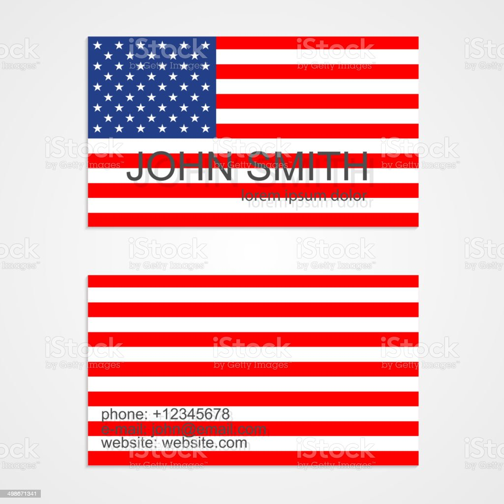 American flag business card template stock vector art more images american flag business card template royalty free american flag business card template stock vector colourmoves