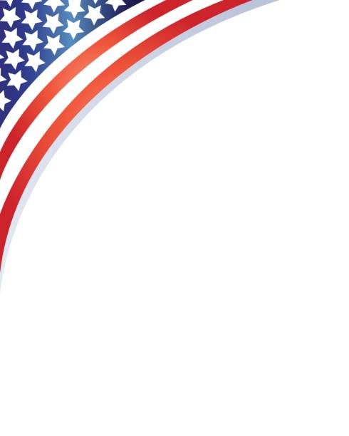 Royalty free american flag border clip art vector images for American frame coupon code