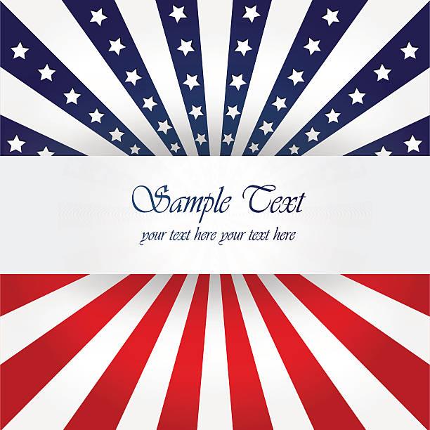 amerykańska flaga design - columbus day stock illustrations