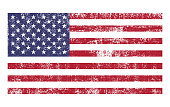 American flag distressed grunge texture. Vector illustration.