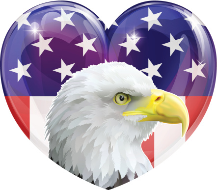 Download American Flag Eagle Love Heart Stock Vector Art & More ...