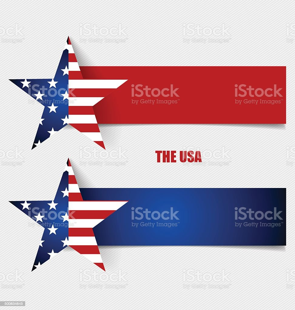 American Flag, Flags concept design. Vector illustration. vector art illustration