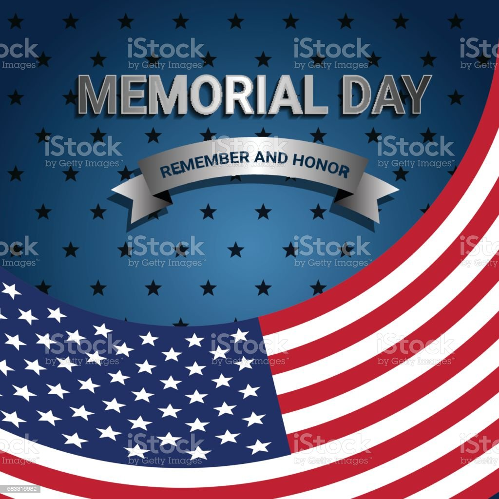 American Flag for Memorial day royalty-free american flag for memorial day stock vector art & more images of art