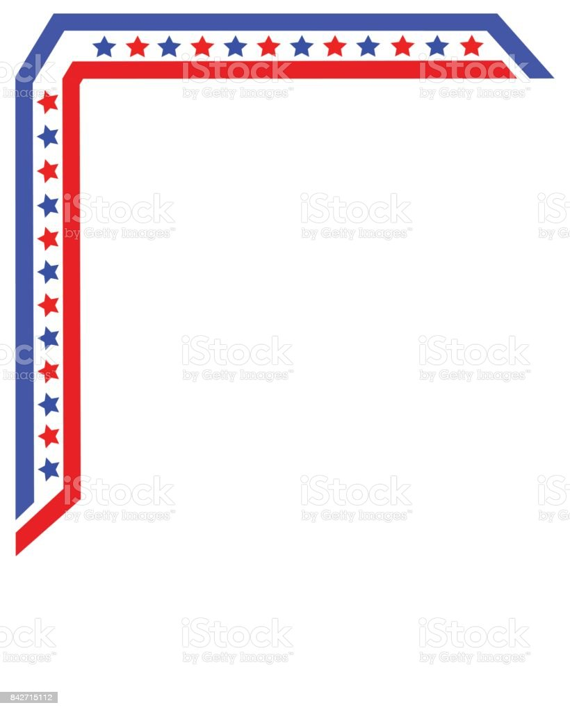 american flag frame template design booklet stock vector art more