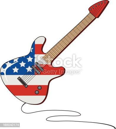 istock American Flag Guitar 165040174