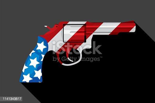 istock American Flag Handgun 1141343517