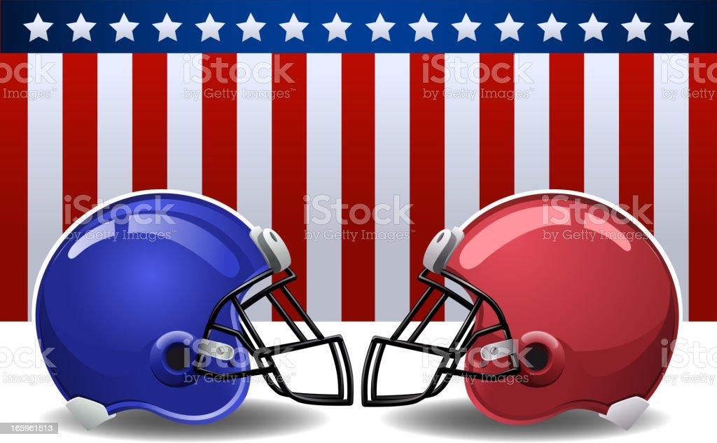Amerikanische Flagge Helm – Vektorgrafik