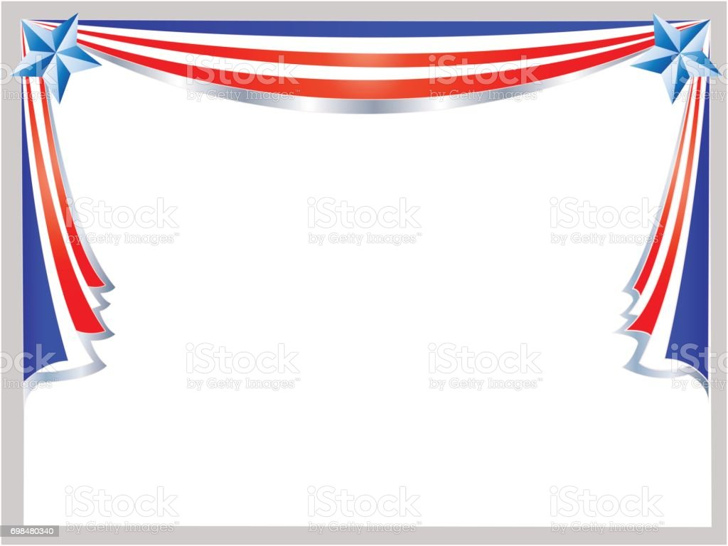 American flag holiday frame. vector art illustration