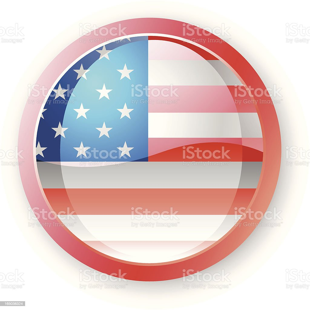 American Flag Icon royalty-free stock vector art