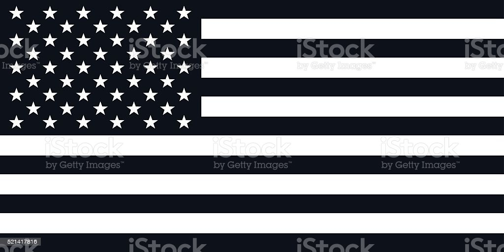 American Flag Illustration - VECTOR vector art illustration