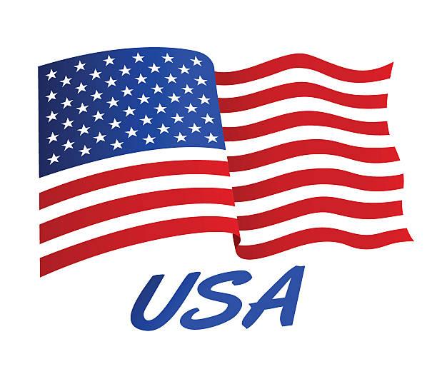 1 003 American Flag Waving Illustrations Clip Art Istock