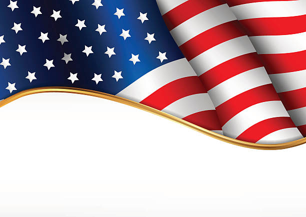 American flag. Independence Day banner. American flag. Independence Day banner. Vector illustration independence day illustrations stock illustrations