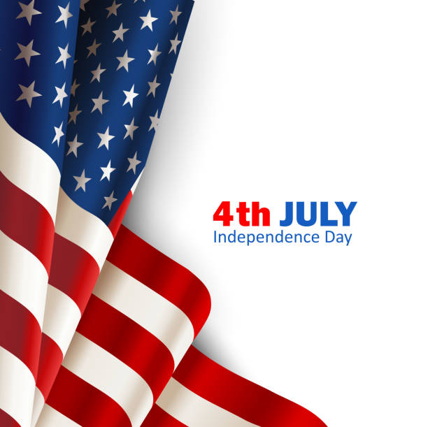 american flag on white - american flag background stock illustrations
