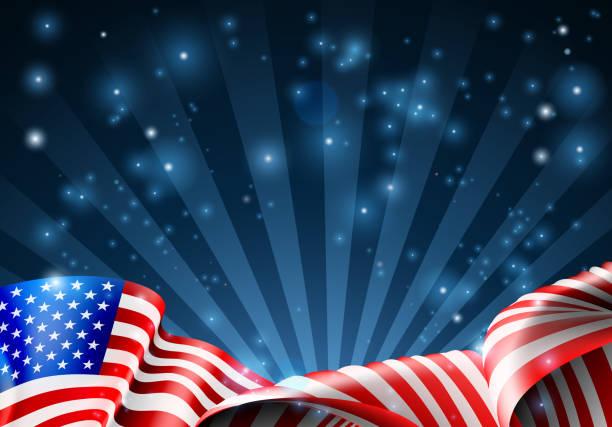 美國國旗愛國或政治設計 - independence day 幅插畫檔、美工圖案、卡通及圖標