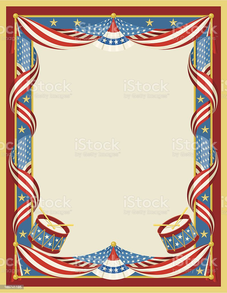 American Flag Poster vector art illustration