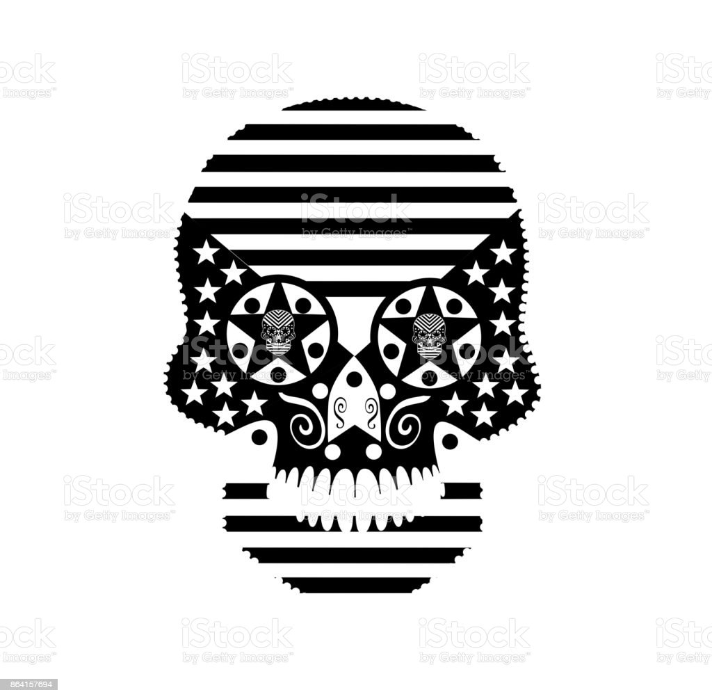 American flag skull vector black and white royalty-free american flag skull vector black and white stock vector art & more images of animal