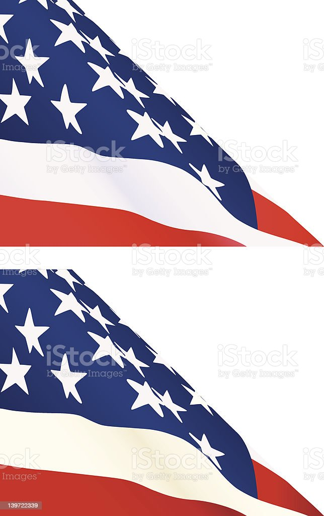 American Flag - two color versions royalty-free american flag two color versions stock vector art & more images of american culture