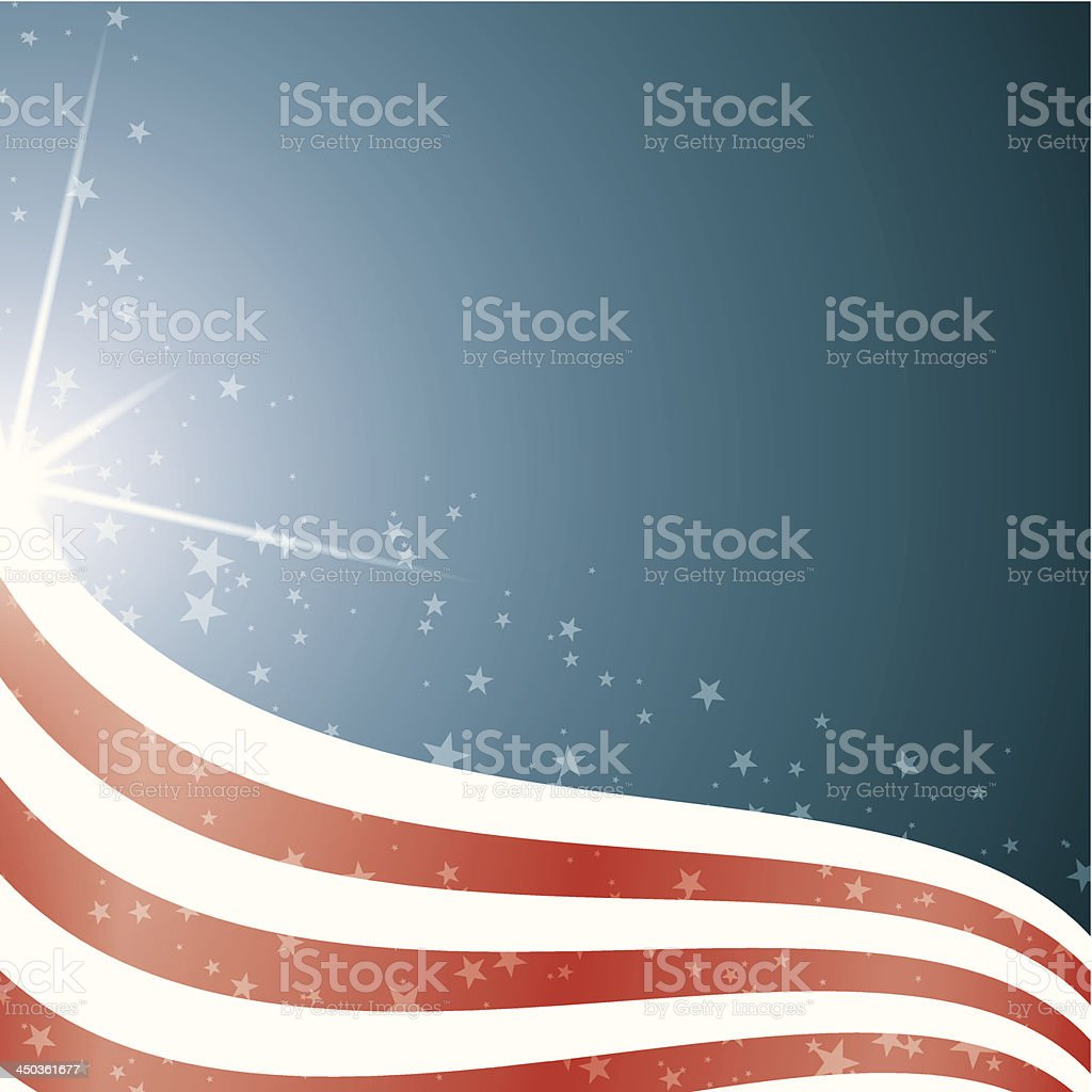 American Flag, Vector background stripes and stars royalty-free stock vector art