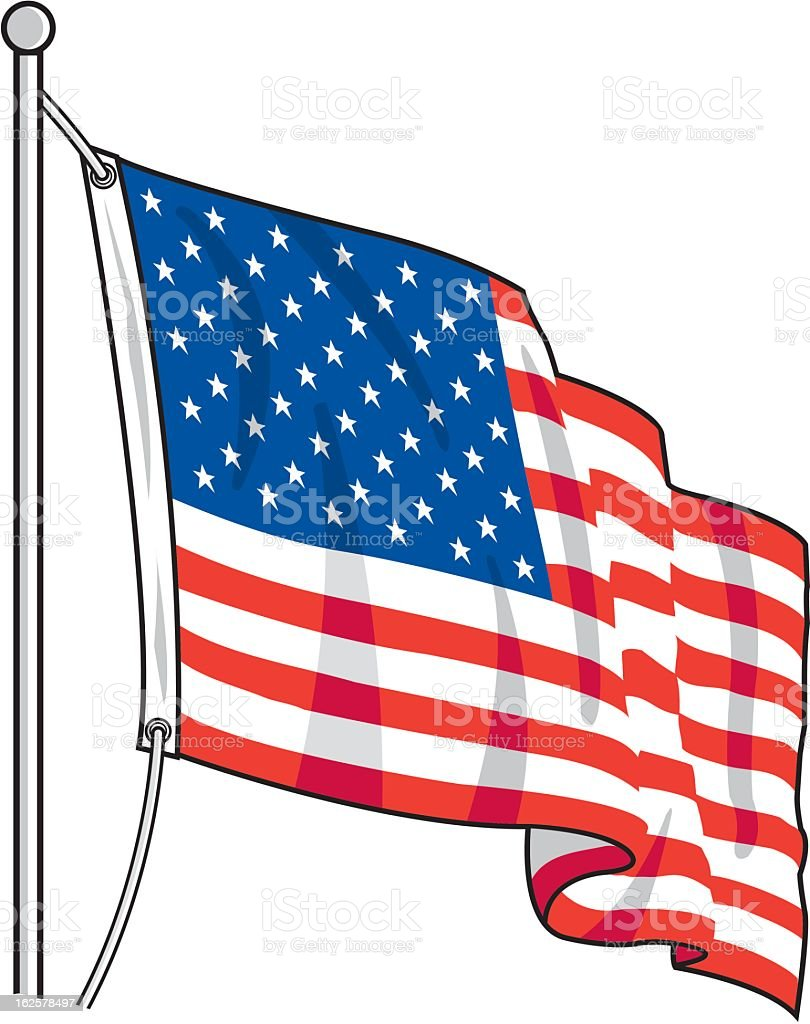 american flag stock vector art more images of american culture rh istockphoto com distressed american flag vector art american flag vector art for photoshop