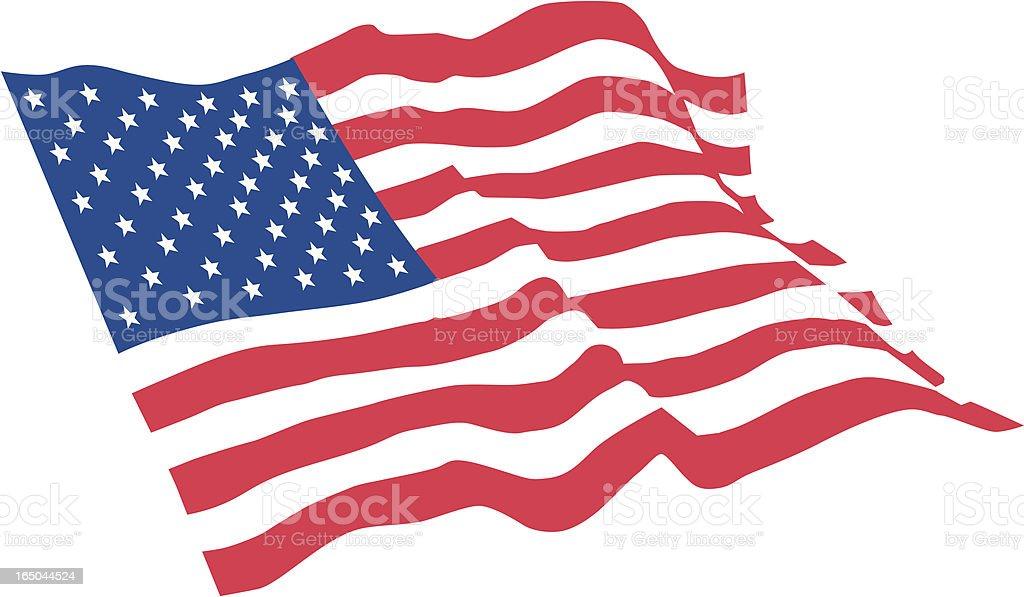 royalty free american flag waving clip art vector images rh istockphoto com us flag clip art free vector
