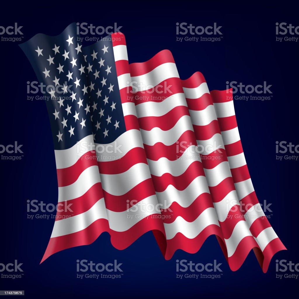 USA, American Flag royalty-free stock vector art