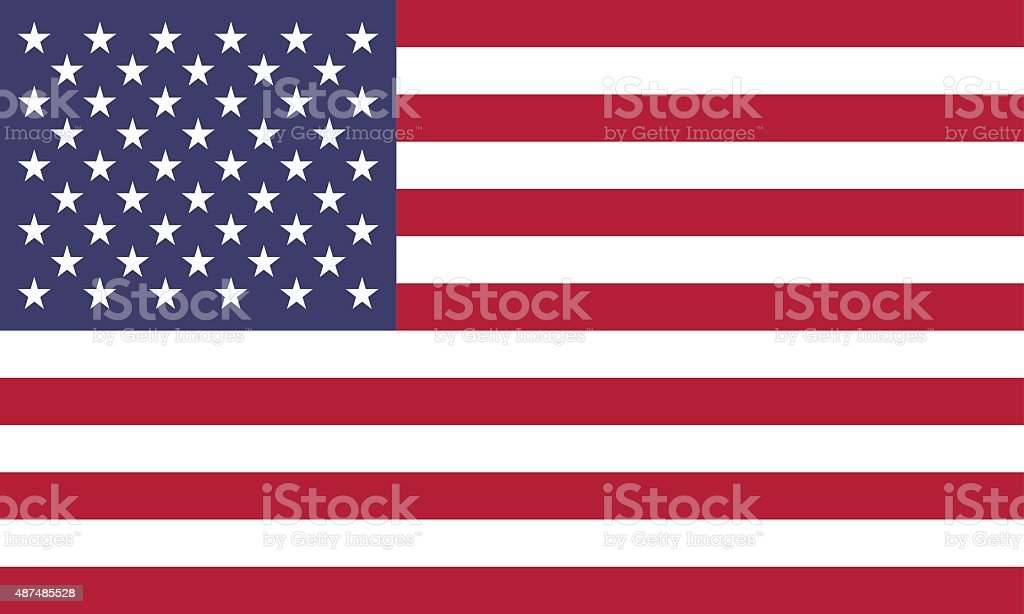 American Flag (Official Colors) vector art illustration